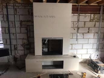 Wood burning stove installation Camberley